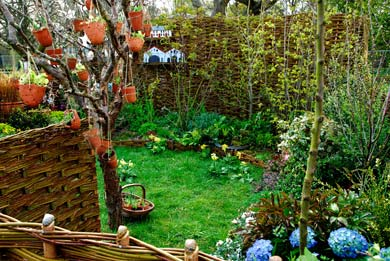 The 'Slugger Off' Garden which will be recycled and planted back at Heronbridge Special School after the show.