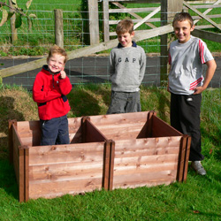 Assembling our Wooden Composter Bin is childs play