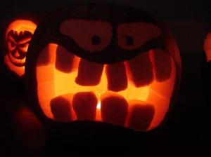Lit Halloween Pumpkin 1