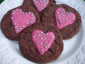 Valentines Chocolate cookies