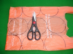 Carrier bag with templates