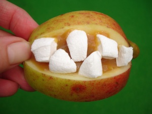 Scary apple smile