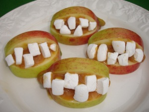 Scary apple smiles